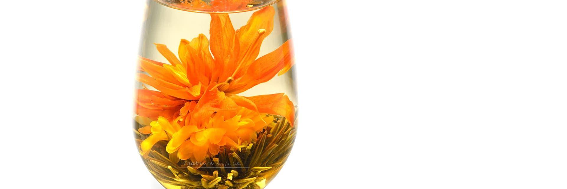 Elegant Blooming Tea Royal Lily Silver Needle Flower Tea