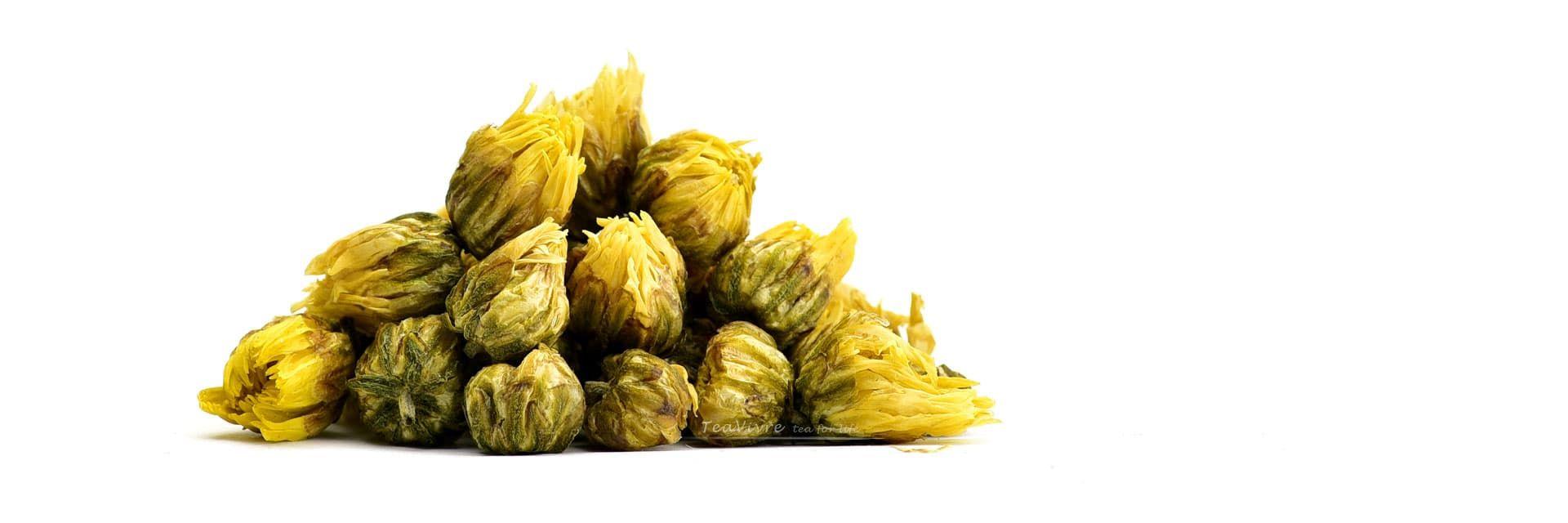 Dried Chrysanthemum Buds Tai Ju Herbal Tea Teavivre Com