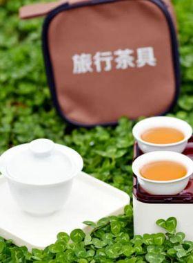 Chinese White Porcelain Ceramic Travel Gaiwan Tea Set Category