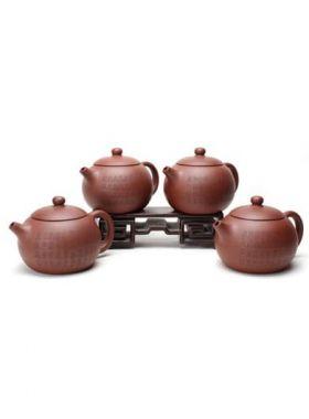 Four Chinese Hanzi Engrave Xi Shi Yixing Teapot