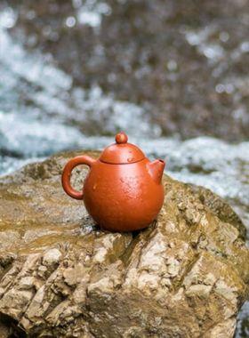 Hand-made Heart Sutra Dragon Egg Yixing Zisha Teapot