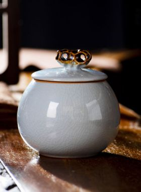 Mini Porcelain Tea Caddy