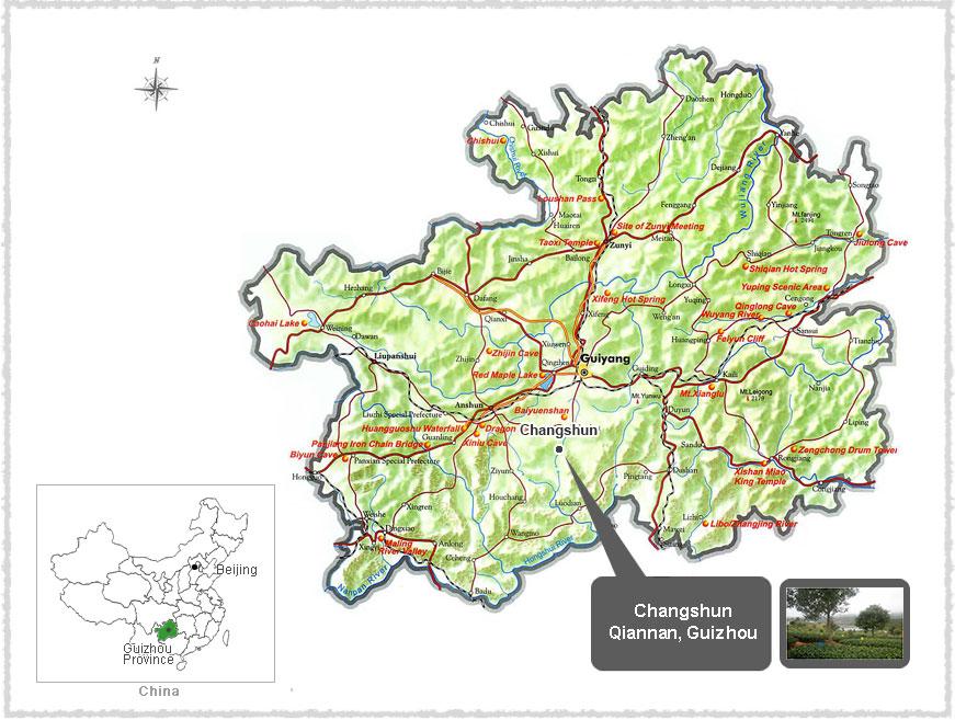 map of guizhou