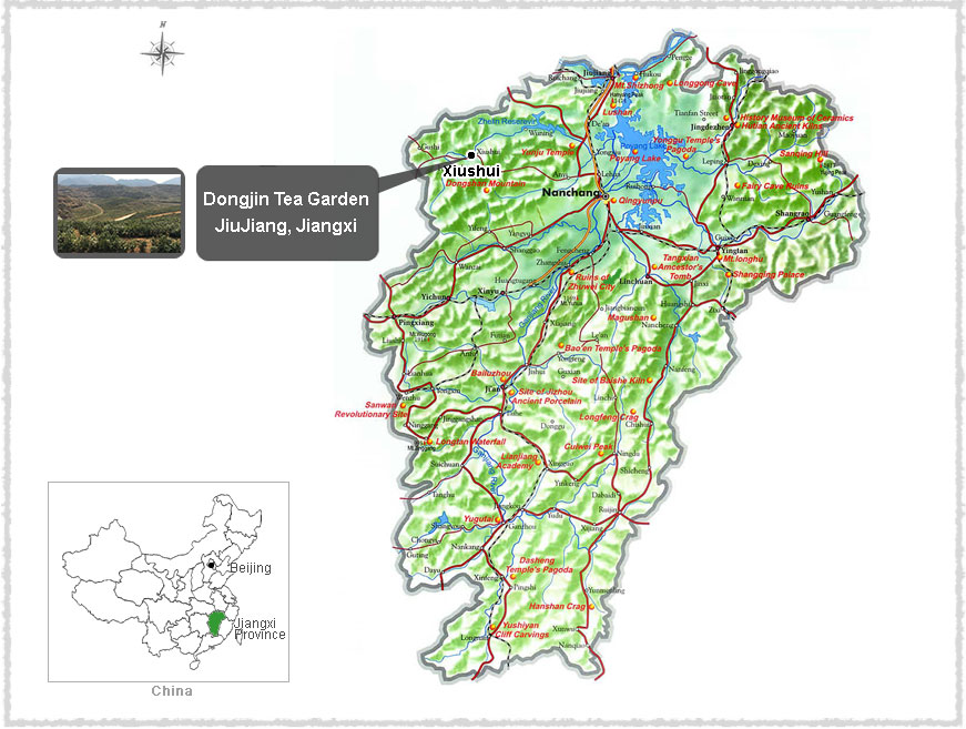 map of Jiangxi